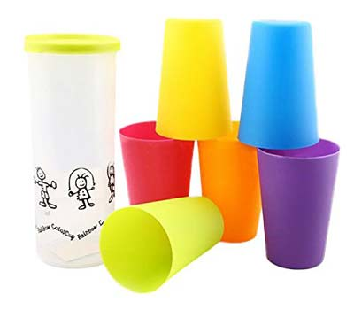 3. Hiware Unbreakable Plastic Cups