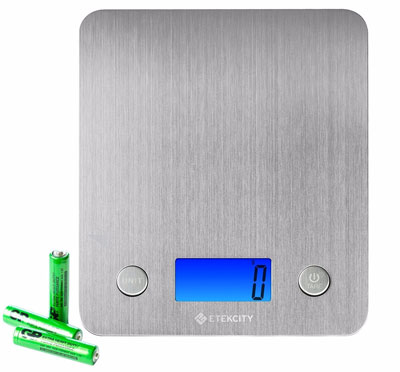 4. Etekcity Digital Food Scale with 30% Wider Stainless Steel Platform