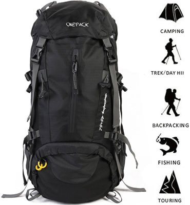8. ONEPACK 50L Waterproof Hiking Backpack