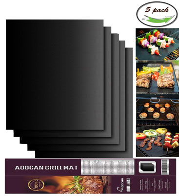 1. Aoocan BBQ Grill & Baking Mats (Set of 5)