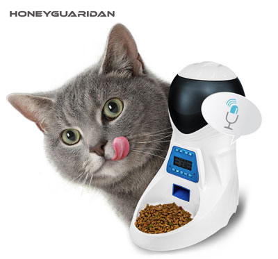 8. HoneyGuardian A25 Automatic Pet Feeder