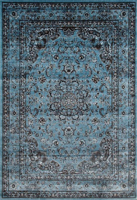1. Persian Area Rugs 7'10x10'6 Large Rug (Distressed Blue)