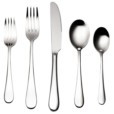 3. Bruntmor 45 Piece Flatware Set