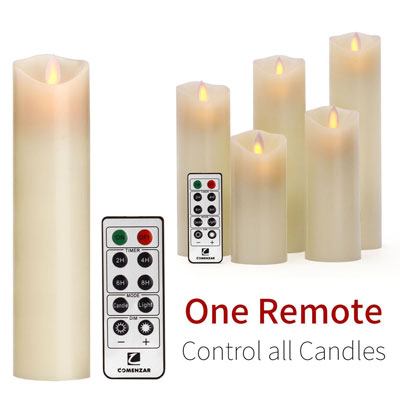 6. Comenzar LED Flameless Candle Set (Ivory)
