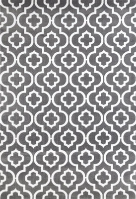 9. Persian Area Rugs 7'10x10'6 Large Rug (Dark Gray Moroccan Trellis)