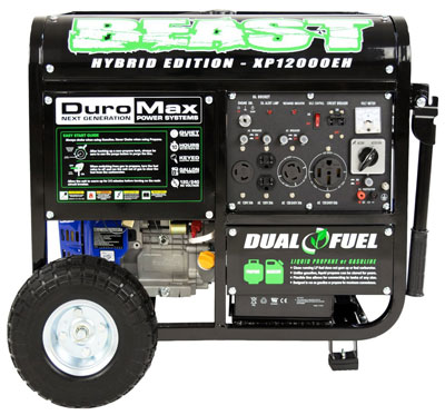 9. DuroMax Portable Generator (XP12000EH)