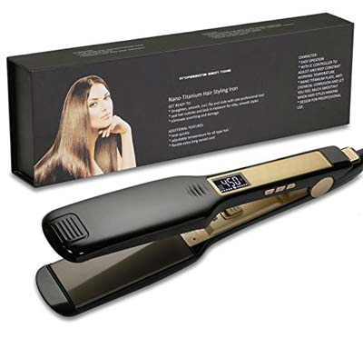 3. KIPOZI Hair Straightener Flat Iron