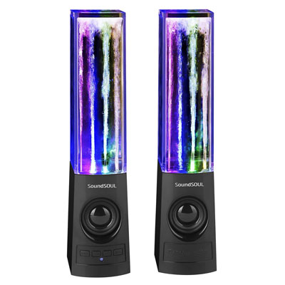 6. SoundSOUL Bluetooth Dancing Water LED Speakers