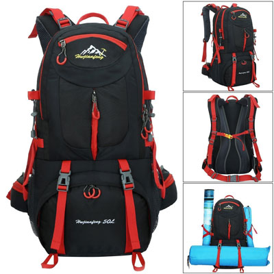 3. Huwaijianfeng 50L Waterproof Hiking Backpack