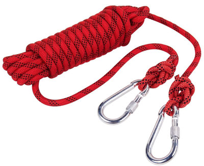 2. Kissloves Outdoor Rock Climbing Rope