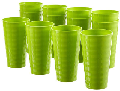 8. Splash Green Plastic Cup