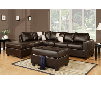 Bobkona Softtouch Match 3 Piece Sectional Sofa
