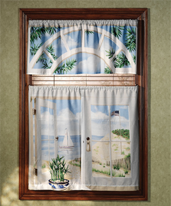 Saturday Knight seashore window curtains