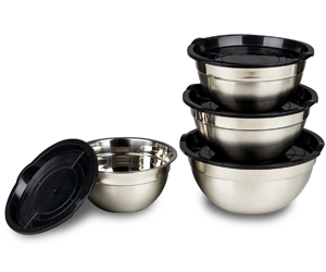 Stainless Steel Mixing Bowls Set--With Lids