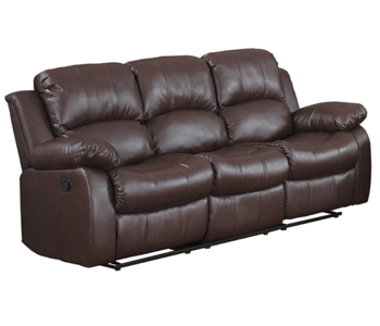 2. Homelegance 9700BRW-3 Double Reclining Sofa