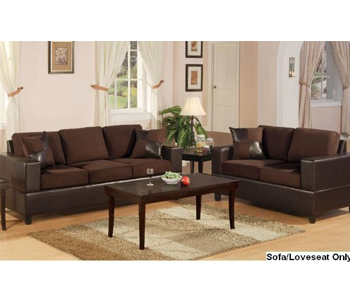 3. Bobkona Seattle Chocolate Reclining Sofa