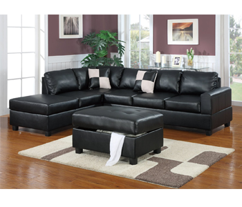 5. Bobkona Hampshire Collection 3 Piece Sectional Sofa