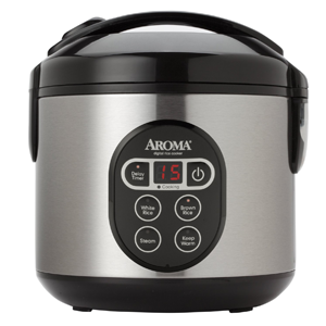 Aroma-Digital Rice Cooker – 8-Cup Capacity