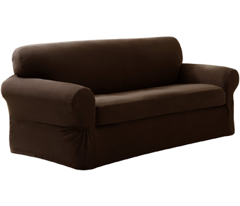 6. Maytex Pixel Stretch 2-Piece Slipcover Sofa