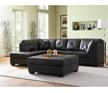 7. Coaster Home Furnishings Contemporary Leather Sofa