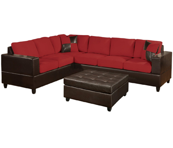 8. Bobkona Trenton 2-Piece Sectional Sofa
