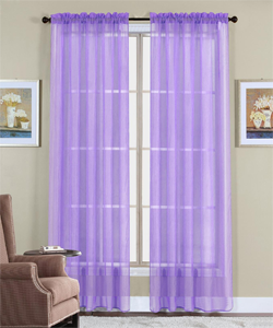WPM 2 Piece Exquisite Sheer Window Sophistication Curtains