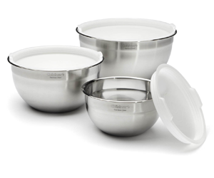 Cuisinart CTG-00-SMB Stainless-Steel Mixing Bowls--with Lids