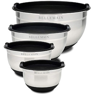 1. Bellemain Stainless Steel Mixing Bowls Set--With Lids