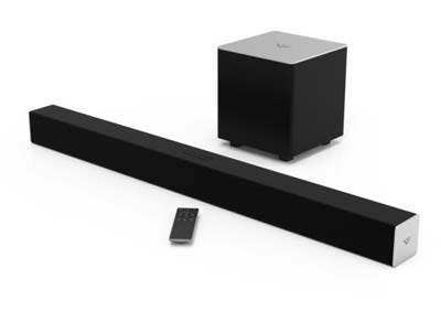 2. VIZIO SB3821-C6 2.1 Channel Sound Bar