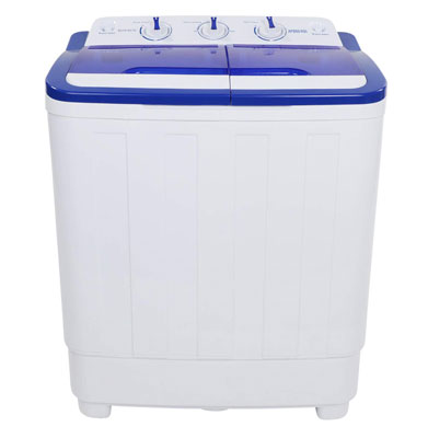 8. ROVSUN 16.6LBS Portable Washing Machine w/Twin Tub Electric Washer