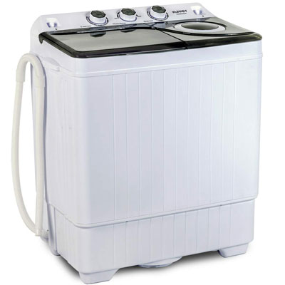 10. KUPPET Compact Twin Tub Portable Mini Washing Machine