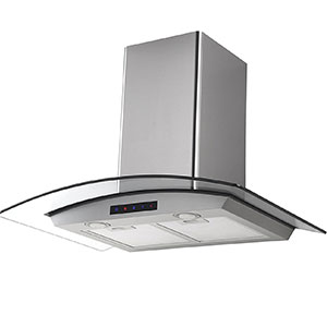 "3. Kitchen Bath Collection 30"" Kitchen Range Hood (HA75-LED)"