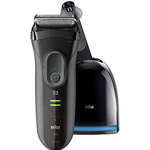 6. Braun Black Series 3 Electric Shaver for Men