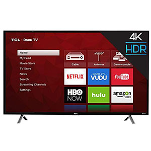 2. TCL 49-Inch 4K Ultra Smart TV (49S405)