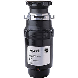 7. General Electric 1/2 Horsepower Black Waste Disposer (GFC520V)