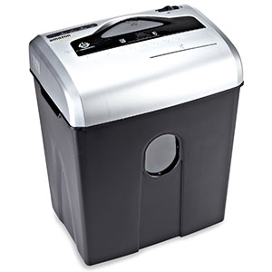 7. AmazonBasics 12-Sheet Cross-Cut Paper and DVD shredder