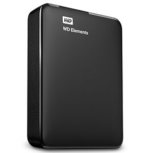 4. WD 2TB Elements Portable External Hard Drive