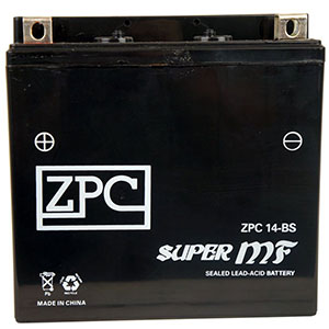 5. ZPC Battery YTX14-BS High quality Sealed AGM Motorcycle Battery
