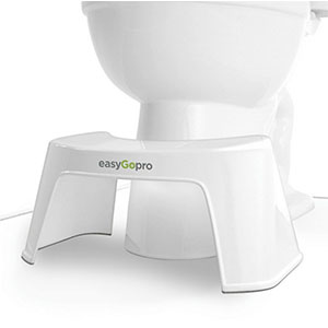 7. EasyGopro Compact Bathroom Toilet Stool Making Go Time Much Easier