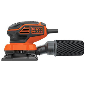 2. BLACK+DECKER 1/4-Sheet Orbital Sander (BDEQS300)
