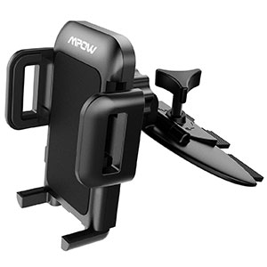1. Mpow Car Phone Holder with Three-Side Grips and One-Touch Design