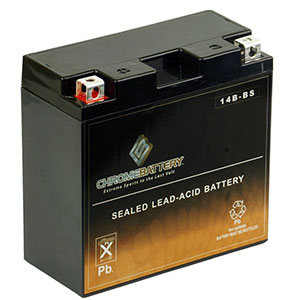 4. Chrome Battery YT14B-BS High-Performance Sealed AGM Motorcycle Battery