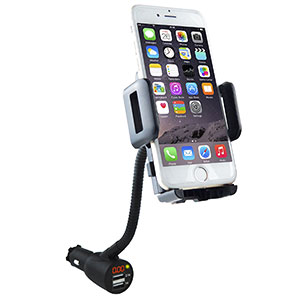 8. Soaiy Cigarette Lighter Car Mount Charger Holder