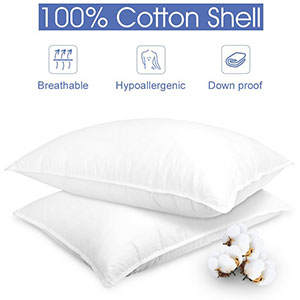 7. LANGRIA 2 Pack Bed Pillows