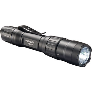 4. Pelican 7600 Rechargeable Tactical Flashlight