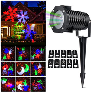 6. Ucharge Christmas Laser Light