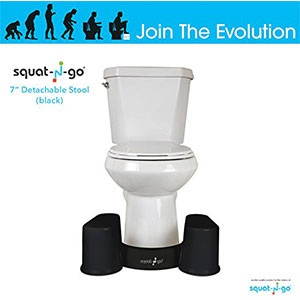 8. Squat N Go Space Saver Toilet Detachable and Compact Bathroom Stool