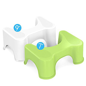 9. Houseasy Bathroom Toilet Stool-2 Sets that Fits All Toilets