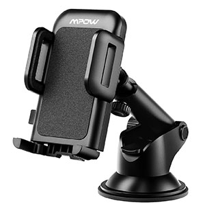 3. Mpow Car Phone Holder with One-Touch Design