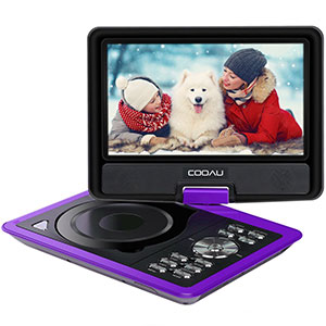 4. COOAU Portable DVD Player with 9.5
